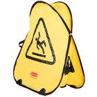 Rubbermaid FG9S0725YEL 20 inch Yellow Wet Floor Sign Folding Safety Cone