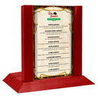 Menu Solutions WDAFR-A Berry Wood Menu Holder / Tent with 4 inch x 6 inch Insert Slot