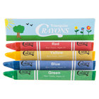 Choice 4 Pack Triangular Kids' Restaurant Crayons in Print Box - 100/Pack