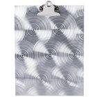Menu Solutions MTCL-811 Alumitique Aluminum Menu Tent with Clip - Swirl Finish - 8 1/2 inch x 11 inch