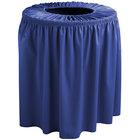 Snap Drape TCCWYN44ROYAL Wyndham 44 Gallon Royal Blue Shirred Pleat Trash Can Cover