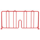 Metro DD18-DF 18 inch Flame Red Wire Shelf Divider