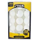 Stiga T1452 1-Star White Ping Pong Balls - 38/Pack