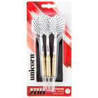 Unicorn D71810 Checkered Steel Tip Darts - 3/Pack