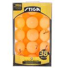 Stiga T1453 1-Star Orange Ping Pong Balls - 38/Pack