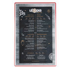 Menu Solutions H500G Hamilton Cherry 11 inch x 17 inch Single Panel Two View Menu Board