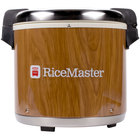 Town 56918 92 Cup (46 Cup Raw) Commercial Rice Warmer with Woodgrain Finish - 120V