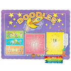 Choice Doodles Children's Interactive Placemat with 4 Pack Kids Restaurant Crayons - 1000/Set