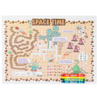 Choice Space Time Interactive Placemat with 4 Pack Kids Restaurant Crayons - 1000/Set