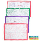 Hoffmaster Kids Color Me Design Placemat with Choice 4 Pack Kids Restaurant Crayons - 1000/Set