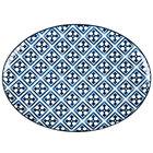 Arcoroc FK646 Candour Azure 14 1/4 inch Porcelain Oval Platter by Arc Cardinal - 12/Case