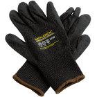 Monarch Black Engineered Fiber Cut Resistant Gloves with Black Latex Palm Coating - Medium - Pair