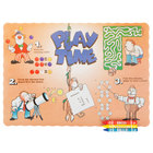 Choice Play Time Interactive Placemat with 3 Pack Kids Restaurant Crayons - 1000/Set