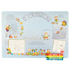 Choice Kids Corner Interactive Placemat with 4 Pack Kids Restaurant Crayons - 1000/Set