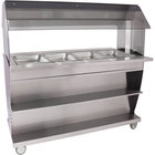 Alto-Shaam HFT2SYS-400 Four Pan Mobile Electric Hot Food Buffet Table - 208V