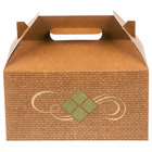 "9 1/2"" x 5"" x 5"" Hearthstone Barn Take Out Dinner / Chicken Box with Handle - 125/Case"