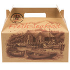 Southern Champion 2705 10 1/2 inch x 6 inch x 5 inch Fresh Seafood Barn Take Out Box with Handle - 125/Case