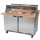 Beverage Air SPE72-30M-DS 72 inch 3 Door Mega Top Dual Sided Refrigerated Sandwich Prep Table