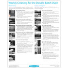 TurboChef DOC-1551 Weekly Double Batch Oven Cleaning Poster