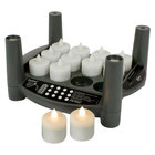 Sterno Products 60290 2.0 12 Piece Warm White Rechargeable Flameless Tea Light Set with Cordless EasyStack Charging Base