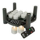 Sterno Products 60314 2.0 12 Piece Warm White Rechargeable Flameless Tea Light Set with EasyStack Charging Base and Timer with Remote