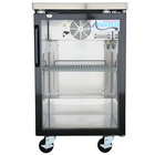 Avantco UBB-1G-HC 23 inch Black Glass Door Back Bar Refrigerator