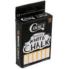 Choice 12 Piece White Chalk - 144/Case