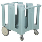 Cambro DC1225401 Slate Blue Poker Chip Dish Dolly / Caddy with Vinyl Cover - 4 Column