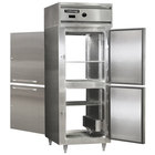 Continental DL1WE-SS-PT-HD 29 inch Extra-Wide Half Solid Door Pass-Through Heated Holding Cabinet - 1500W