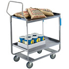 Lakeside 4710 Handler Series Stainless Steel Two Shelf Heavy-Duty Utility Cart - 16 1/4 inch x 30 inch x 46 1/4 inch