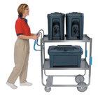 Lakeside 7030 Heavy-Duty Stainless Steel Two Shelf Ergo-One System Utility Cart - 21 5/8 inch x 57 3/16 inch x 46 3/4 inch