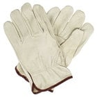 Economy Grain Pigskin Driver's Gloves with Straight Thumbs - Medium - Pair