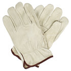 Economy Grain Pigskin Driver's Gloves with Straight Thumbs - Large - Pair