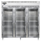 Continental DL3R-GD 78 inch Glass Door Reach-In Refrigerator
