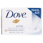 Dove CB126811 White 2.6 oz. Travel Size Beauty Bar Soap - 36/Case