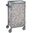 Lakeside 654GS Stainless Steel Six Tray Meal Delivery Cart With Gray Sand Finish