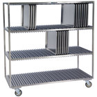 Lakeside PB848 PrisonBilt 120 Pan Stainless Steel Sheet Pan Drying Rack - 63 1/2 inch x 26 inch x 58 3/5 inch