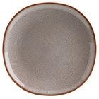 Homer Laughlin 221841437 Brownfield 8 3/8 inch Square Small Cobblestone Nadia China Plate - 24/Case