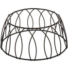 Choice 4 inch Round Black Patterned Metal Display Stand