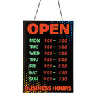 Artistic 34110 18 inch x 26 inch Red / Green Programmable Open Sign with Business Hours