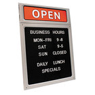 Cosco 098221 15 inch x 20 1/2 inch Black / Red Message and Business Hours Sign