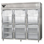 Continental DL3RE-GD-HD 86 inch Half Glass Door Extra Wide Reach-In Refrigerator