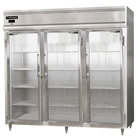 Continental DL3RE-GD 86 inch Glass Door Extra Wide Reach-In Refrigerator