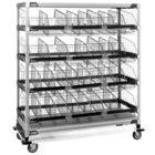 Metro MXIV7 MetroMax i I.V. 12-Basket Solution Cart with Top Shelf - 24 inch x 60 inch x 69 inch