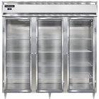 Continental DL3F-SS-GD 78 inch Glass Door Reach-In Freezer