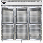 Continental DL3F-SA-GD-HD 78 inch Half Glass Door Reach-In Freezer