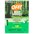 SC Johnson OFF!® 611072 Deep Woods® Insect Repellent Towelettes - 12/Box
