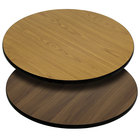 "Flash Furniture XU-RD-30-WNT-GG 30"" Natural / Walnut Reversible Laminated Round Table Top"