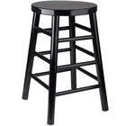 Lancaster Table & Seating 24 inch Black Metal Woodgrain Counter Height Stool