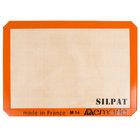 """Sasa Demarle AE295205-01 SILPAT&#174&#x3b; 8 1/4"""" x 11 3/4"""" Quarter Size Silicone Non-Stick Baking Mat"""